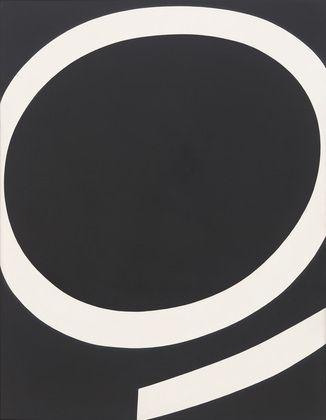 Running White. 1959, Ellsworth Kelly, oil on canvas, 88 x 68 in., USA.