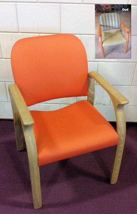 Soms lukt het restylen van stoelen zo goed, zoals hier bij de zorgstoelen van Warande Loericker Stee, dat het lijkt of er een nieuwe stoel staat; sterker nog! Er staat een nieuwe stoel! Restyling van zorgmeubilair bij Vision Furniture, dé restylers. www.visionfurniture.nl
