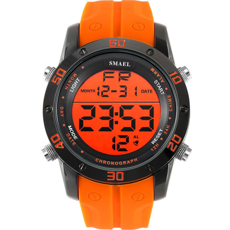 Fashion Casual Watches Men Orange LED Digital Watches Sports Alloy Clock Male Automatic Date Watch Army Men's Wristwatch WS1145 Just look, that`s outstanding!  #shop #beauty #Woman's fashion #Products #Watch