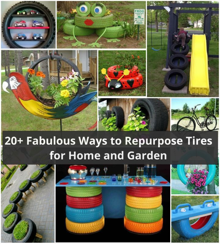 20 fab diy ideas to repurpose old tires for home and garden