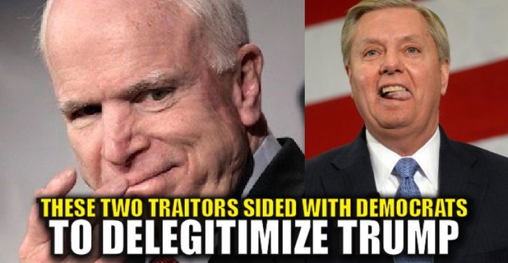 """Bitter traitors and GOP establishment hacks, John McCain and Lindsey Graham are pushing the hairbrained """"Russian Hacking"""" conspiracy theory to delegitimize Donald Trump's presidency. They along with other DC idiots released a statement regarding the BOGUS CIA report that shows no evidence, yet still points to Russia """"affecting the election."""" The FBI has chimed in, stating there's no link that the Russians were working to help anyone. NEW: Bipartisan group of senators release joint statement…"""