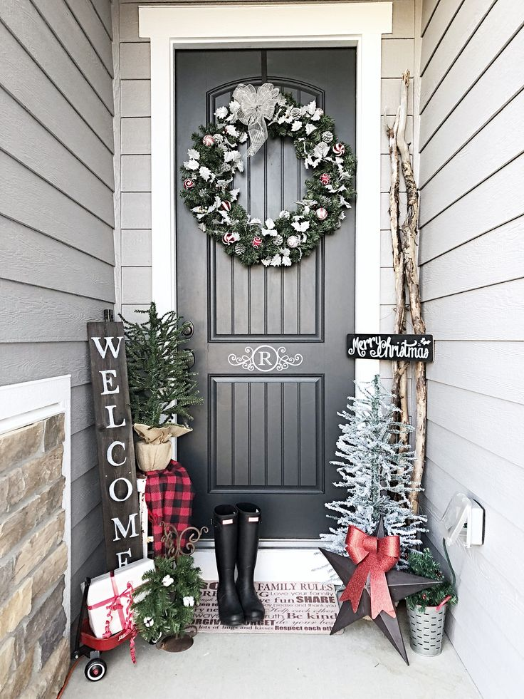 It's amazing what you can cram into a small space! If you have a small front porch/entryway, story stacking some items to move your decor up, instead of out.