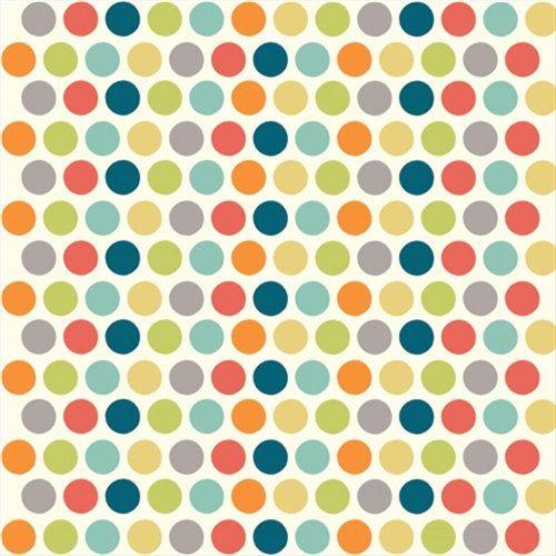 Birch Fabrics Just for Fun Dottie Cotton Polka by NekomataTextiles, $8.25