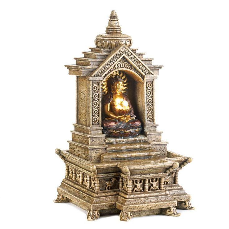 Faux Stone Golden Buddha Temple Table Water Fountain   #buddha. #love #meditation #buddhism #yoga #peace #zen #namaste #travel #thailand #art #temple #spiritual #life #enlightenment #buddhist #wisdom #consciousness #meditate #instagood #fashion #beautiful #om #spirituality #happy #nature #happiness #photooftheday