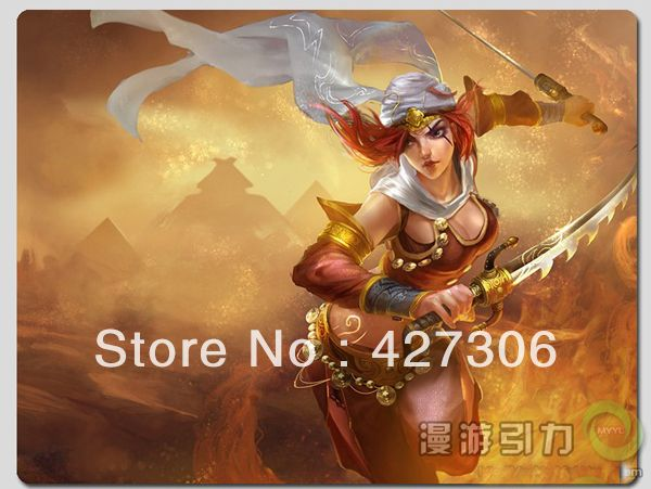 League of Legends LOL Katarina the Sinister Blade Sandstorm Katarina mouse pad Free Shipping