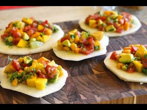 Mango and Avocado Ceviche - Want the Ingredients and Directions too? Just click below. PLUS, if you like this healthy recipe, we have a lot more that all come with a video, have 7 ingredients or less, and no added sugar. They are perfect for any CrossFitter looking to hit their macros or make meal plans.