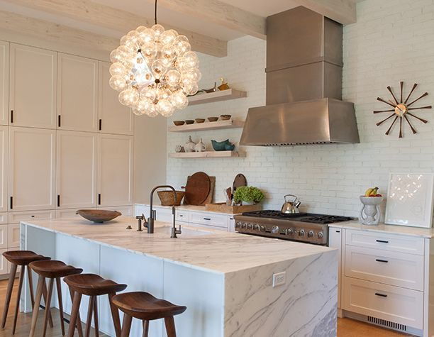 Modern White Kitchen By Dallas Based Interior Designer And Style Director For Milieu Magaazine Shannon Bowers