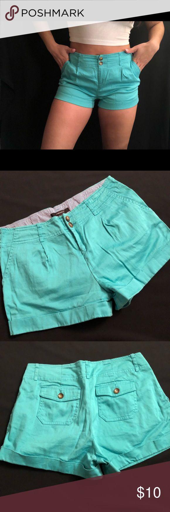 Teal shorts with pockets Teal shorts with pockets Forever 21 Shorts