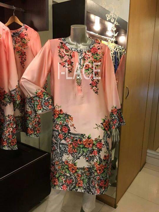 I-Lace silk Kurti ready to ship pure silk womens by IrmaDesign
