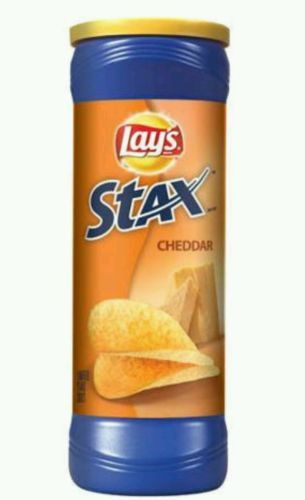 Lays Stax Chips / Cheddar Flavored (Two - 5.5oz Cans) Snack Foods Potato