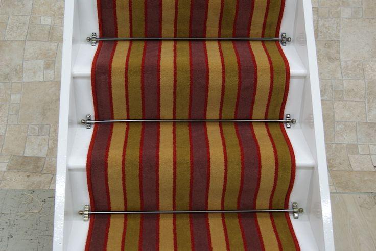 Madison 80% wool stripe stair runner 10.95mx0.62m
