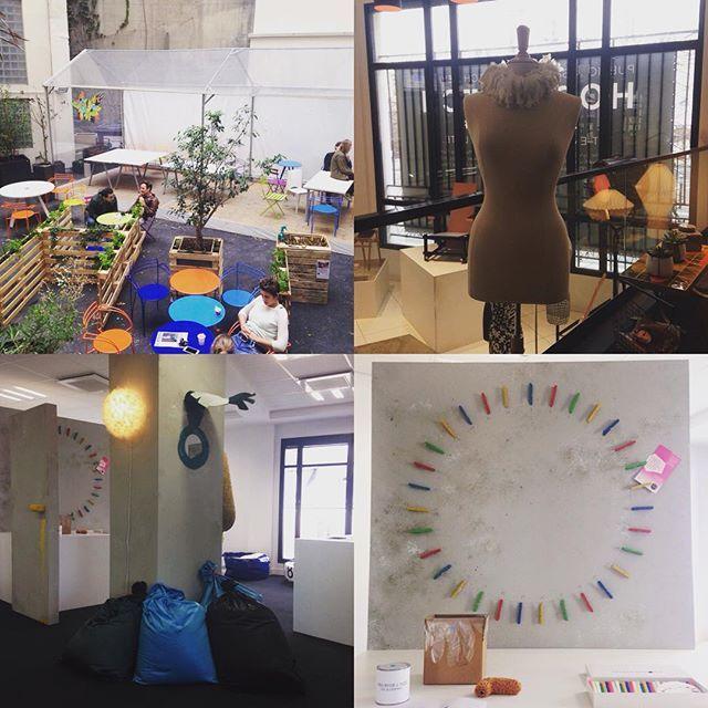 Thématique #upcycling à découvrir chez @hopscotchgroupe avec #vincentcacaly #florencedoleac #alexandrakonvinski  #parcoursmaraisbastille  #PDW15#TEAM14SPIN#TEAM14SINS #team14stw #design #art #fashion #artists #deco #upcycling