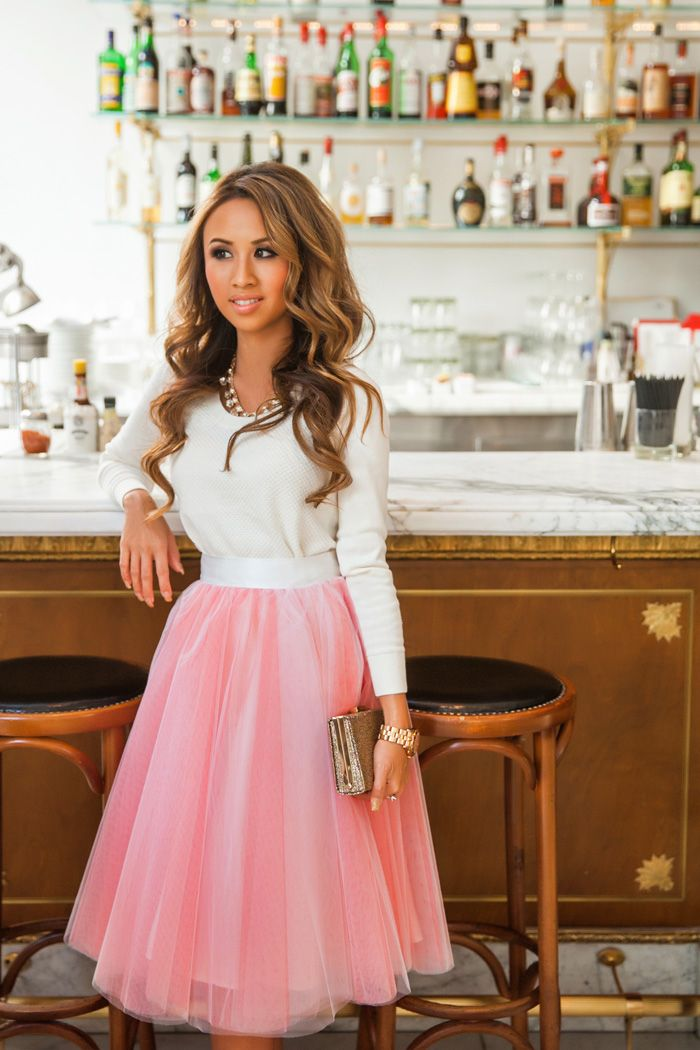 Fashion blogger petite fashion blog pink tulle skirt for Dress for wedding shower