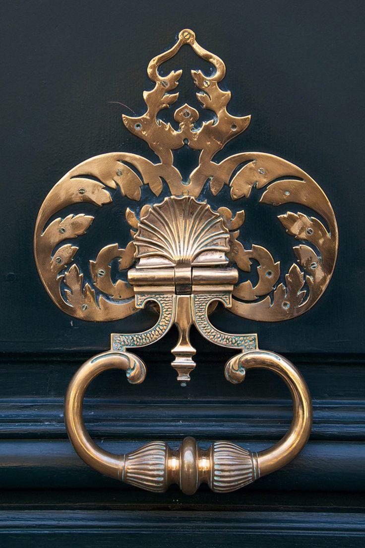 Antike Türbeschläge Jugendstil Palmetten Messing #door #style #old