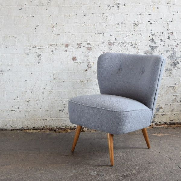 Light Grey Cocktail Chair in Bute Wool