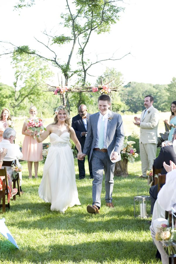 Virginia at-home backyard wedding ceremony by Blume Photography and Roberts & Co. Events