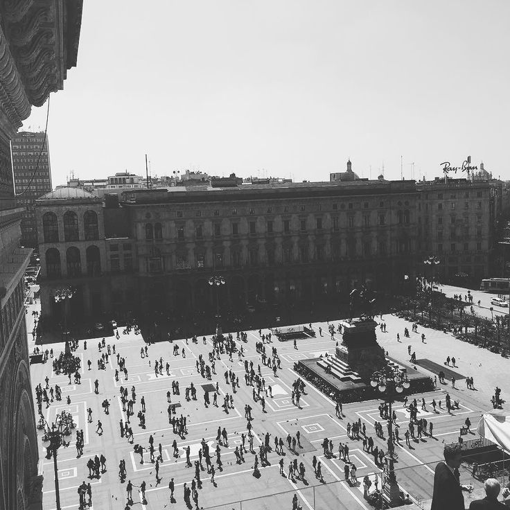 Great #view #piazza #piazzadelduomo #milan #milano #italy #people #travel