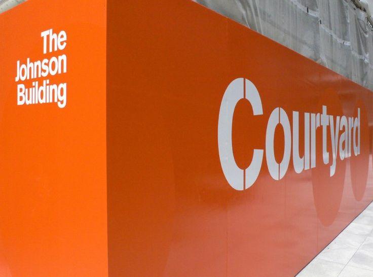 The Johnson Building signage | Cartlidge Levene