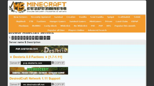 minecraft 1.7 10 servers minigame