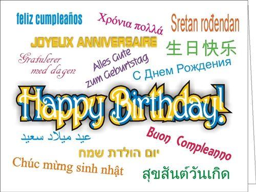 Birthday Many Ways Card Global Languages Pinterest Happy Birthday Wishes In Konkani Language
