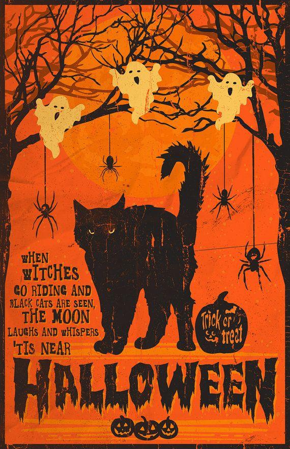 Tis Near Halloween 11 x 17 Inch Print by MattPepplerArt on Etsy, $20.00 #halloween #poster