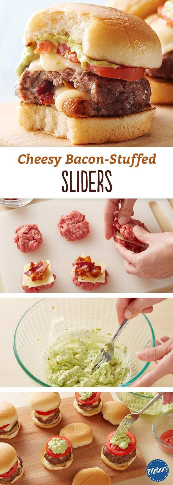 It's the most amped up mini burger you've ever had — like a Jucy Lucy slider. These easy baked pepper jack and bacon-stuffed sliders are sure to become a family favorite.