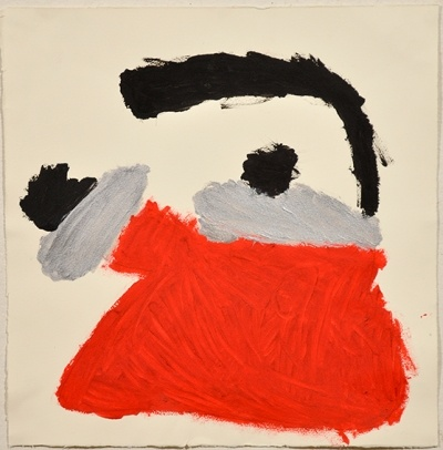 Patrick Francis, Not titled (red kettle) 2010 acrylic on paper 39 x 38cm © Artist Represented by Arts Project Australia