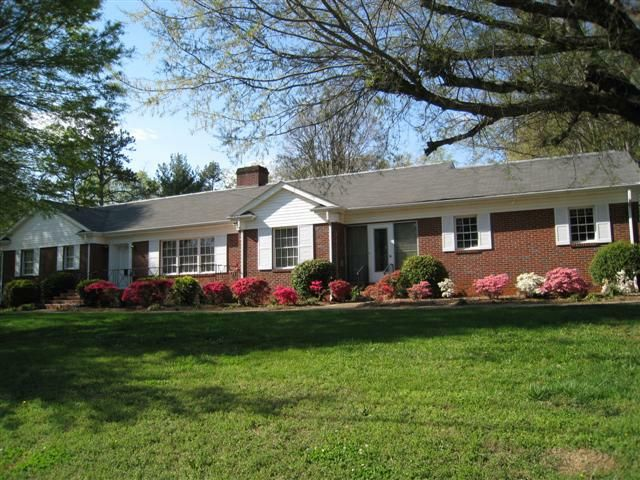 Hickory NC Brick Ranch With Basement For Sale HousesTrees And ShrubsHouse FrontLandscaping IdeasYard