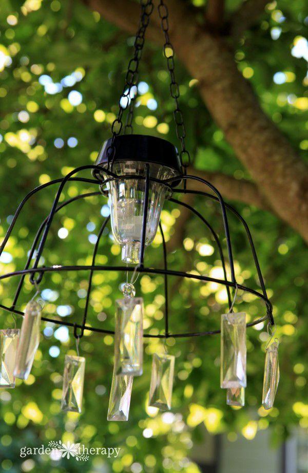 32 best homemade wind chimes images on pinterest wind for Solar light chandelier diy