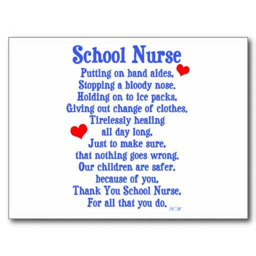 Happy School Nurse Day! Don't forget to take time and say