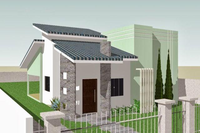 Fachadas de casas simples bonitas e pequenas projetos for Fachadas de casas modernas en honduras