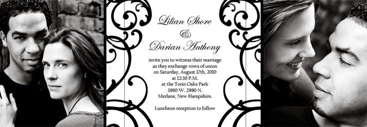 Tri-Fold Black and White Wedding Invitations: Black Wedding Invitations, Black Weddings, Black White Weddings, Black And White, Invitations Photos, Diy Invitations, Invitations Archives, Invitations Ideas, Photos Invitations
