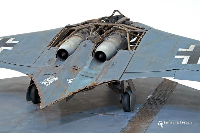 Ho-229 Horten, ZOUKEI-MURA 1/32 scale. By Sampson WS Yu.  #scale_model