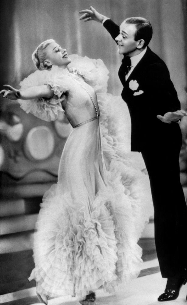 Fred Astaire & Ginger Rogers. This picture is kind of awesome and kind of terrifying.