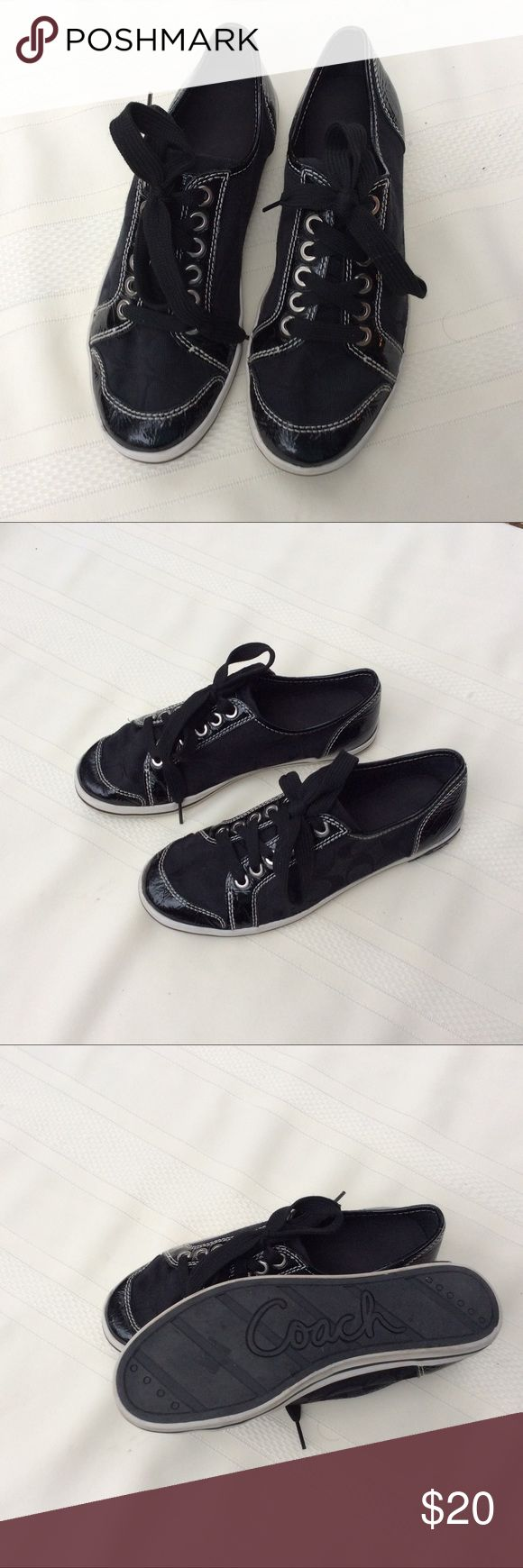 W.Once coach sneakers. Excellent condition Coach sneakers. No signs of ware. Coach Shoes Sneakers