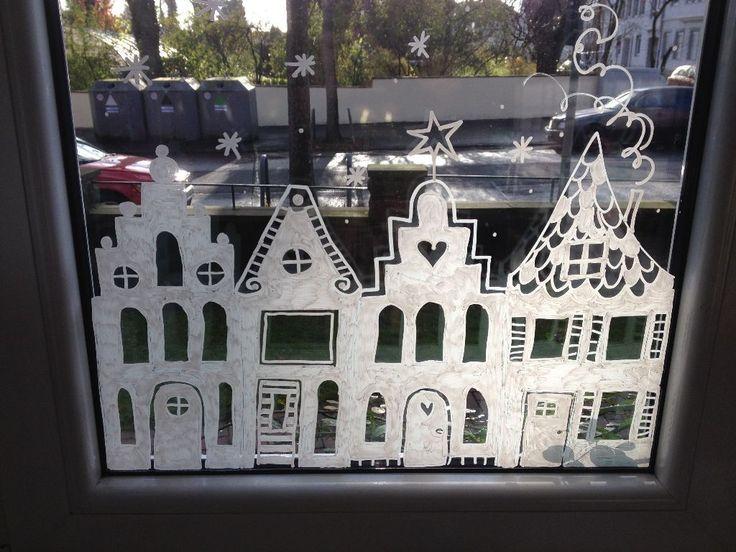 sara liebe kreidebild weihnachten weihnacht fenster. Black Bedroom Furniture Sets. Home Design Ideas