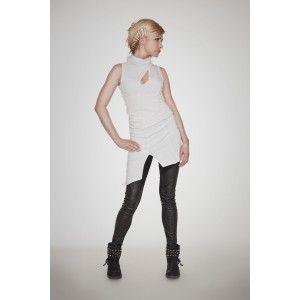 Agi Jensen - biała tunika sukienka