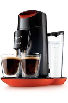 Cafetière à dosette ou capsule SENSEO HD7870/31 TWIST NOIR ET ROUGE Philips