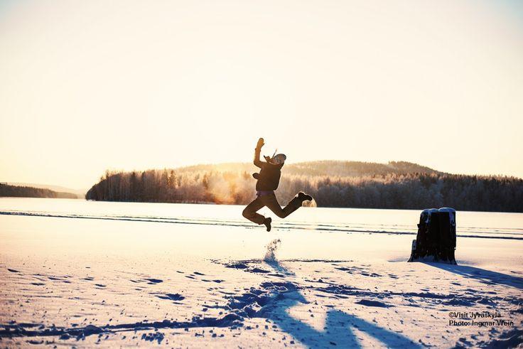 Lake Jyväsjärvi in the winter. ©Visit Jyväskylä  Photo: Ingmar Wein.