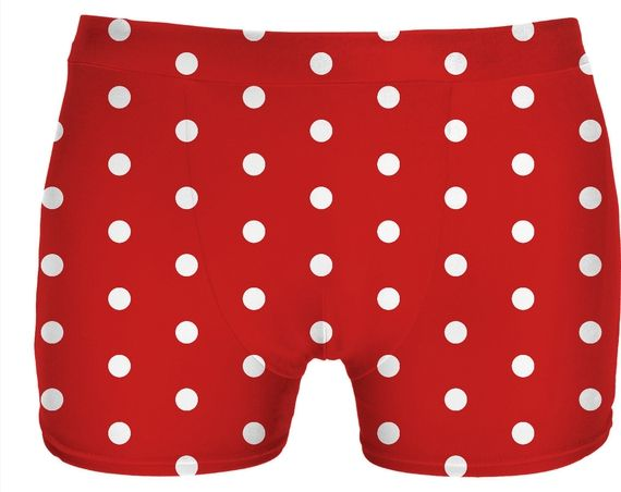 White polka dots on red, circles, points themed vintage pattern underwear. Item printed by RageOn.com Production Time: 7-13 business daysShipping:USA: 4-10 business daysInt... #erotic #art #prints #canvas #decor #adult #boys #hot #men #naughty