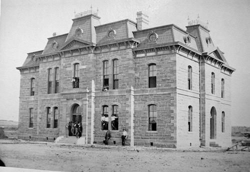 Former Blanco County courthouse, Blanco Texas, Ruffini 1885