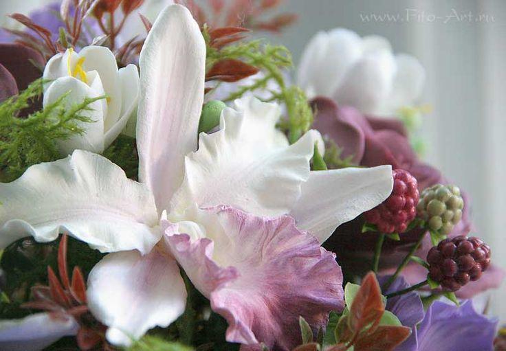Композиции : Букет Sorrento. Цветы из глины - Fito Art