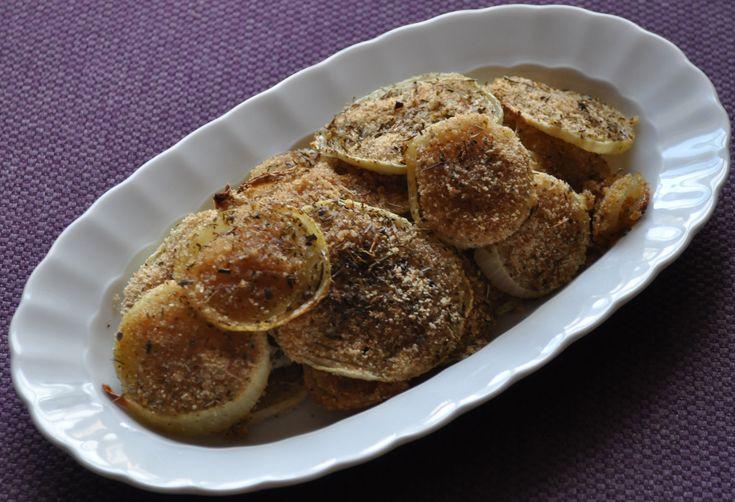 Spirali di cipolle al gratin