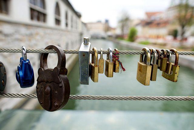 Love locks in Ljubljana Slovenia http://www.annehoang.com.au/photoblog/weekend-in-slovenia/