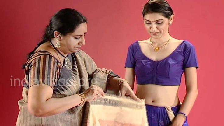 How To Drape Pochampally Ikat Sari In Gujarati Style
