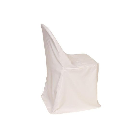 Polyester Folding Chair Cover White | Wedding Chair Covers