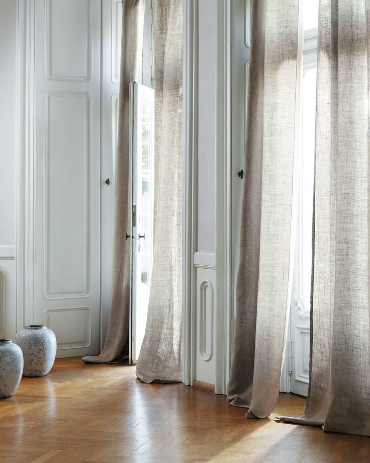 9 best Rideaux Couture Lin images on Pinterest Curtains, Fabrics