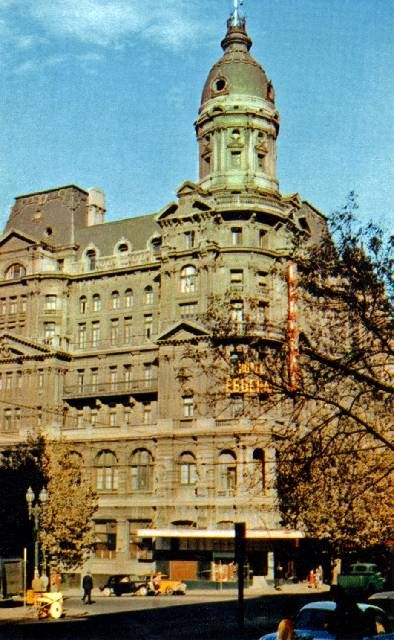 Postcard of the Federal Hotel, south-west corner of Collins and King Streets ~ 1950s.