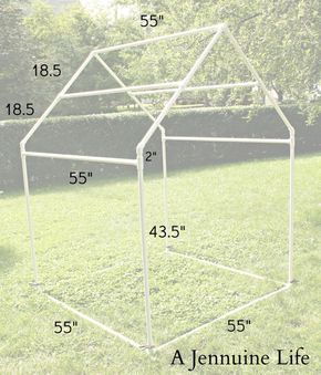 PVC Playhouse Sunshade: PVC Frame by Jennifer on July 1, 2013 in DIY, PVC Playhouse, Tutorial Today I have the first installment of the ...