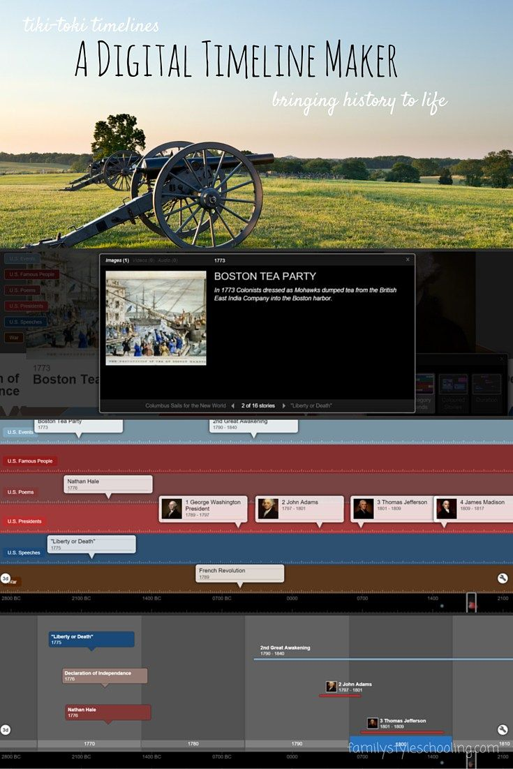 Tiki-Toki is another easy-to-use, simple, yet pretty fancy website that could be used in a history class to have the students do a timeline of specific events.  http://www.tiki-toki.com/